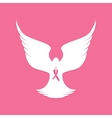 National Breast Cancer Awareness Month Dove vector image vector image