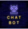neon chat bot artificial intelligence concept vector image vector image