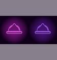 neon condom in purple and violet color vector image vector image