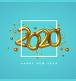 new year 2020 gold 3d number date party card vector image vector image