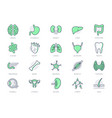 organs line icons include vector image