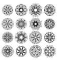 ornamental line pattern round texture geometric vector image