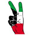 Peace Sign of the Kuwaiti flag vector image vector image