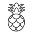 pineapple icon outlined food fruits vector image vector image
