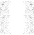 poinsettia outline border vector image