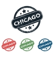 Round Chicago city stamp set vector image vector image