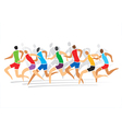 Runners race vector image vector image