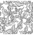 seamless pattern coffee tree vector image vector image