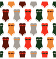 seamless pattern of colored swimsuits vector image