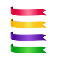 set colored arrow ribbons vector image vector image