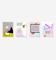 set of four minimal geometric covers design vector image