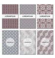 Set of geometric patterns abstract design