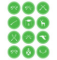 set of hunting club logo icon vector image