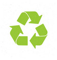 silhouette green recycling symbol vector image