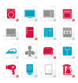 stylized home appliance icons vector image vector image