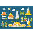 Thailand temple infographic elements set vector image vector image