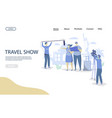 travel show website landing page design vector image vector image