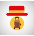 travel tourist hat concept suitcase vector image vector image