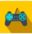 Video game controller flat icon vector image