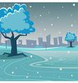 Winter Park vector image vector image