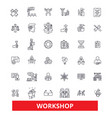 workshop seminartraining conference garage vector image vector image
