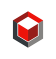 cube 3D abstract geometry logo vector image