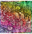 Abstract multicolor floral background vector image