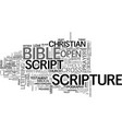 scripture word cloud concept vector image