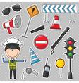 Traffic Policeman vector image
