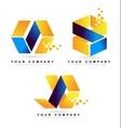 Abstract Cube Logo Design vector image vector image