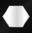 abstract metal texture background with hexagon vector image vector image