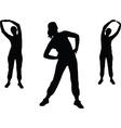 aerobics girl 2 vector image vector image