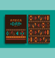 africa day hand drawn retro tribal art banner set vector image vector image