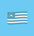ambazonia flag icon in flat design vector image vector image