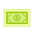 bank and investment symbol dollar object vector image vector image