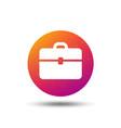 briefcase icon diplomat handbag sign vector image