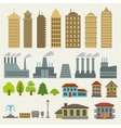 Buildings vector image