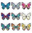 Butterflies Set4 vector image vector image