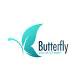 butterfly blue design logo vector image