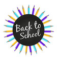chalkboard back to school banner with color vector image vector image