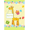 childs birthday card vector image vector image