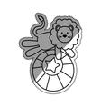 Circus lion cartoon vector image vector image