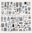 clothes and accessories fashion icon set men and vector image vector image