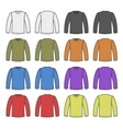 Color Men T-shirt Long Sleeved Shirts Set vector image vector image