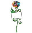 Colourful rose vector image