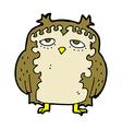 comic cartoon wise old owl vector image