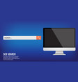 computer and icons banner concept business vector image