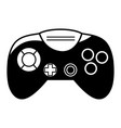 contour videogame controller with buttons to play vector image vector image
