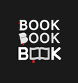 Creative book typography logo