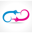 creative hand icon concept vector image vector image